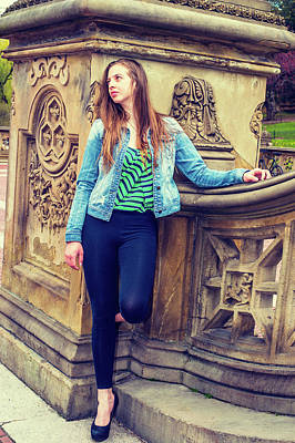 Photograph - American Teenage Girl Missing You At Central Park In New York. by Alexander Image