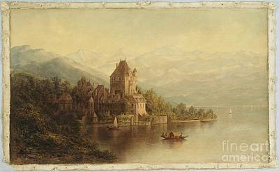 Switzerland Painting - American Title Chateau by MotionAge Designs