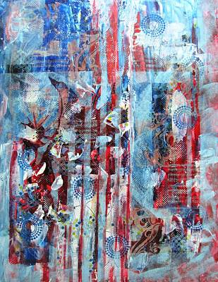 Representative Abstract Mixed Media - American Tribute by David Raderstorf