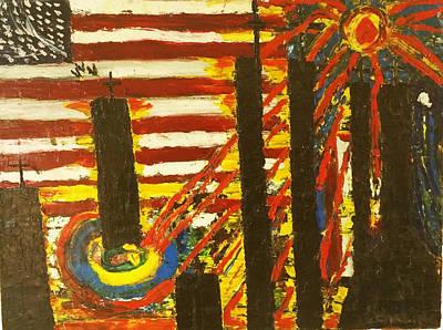 9/11 Memorial #2 Art Print by Ronald Carlino Jr