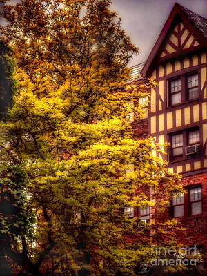 Photograph - American Tudor - The Beauty Of Autumn by Miriam Danar