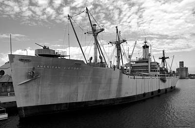 American Victory Ship Tampa Bay Art Print by David Lee Thompson