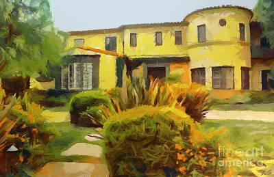 Painting - American Villa Of The Last Century by Sergey Lukashin