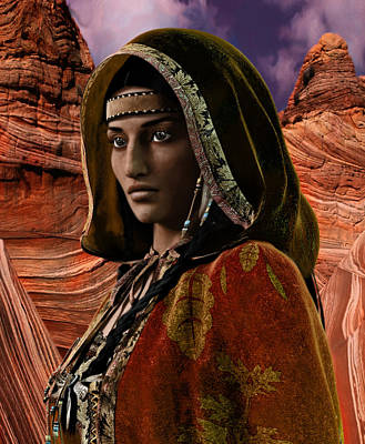 American Vision Saint Kateri Tekakwitha Art Print