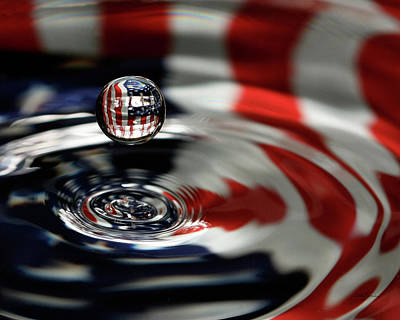 American Water Drop Art Print by Betty Denise