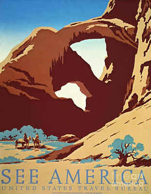 Screen-print Photograph - American West Travel 1939 by Padre Art