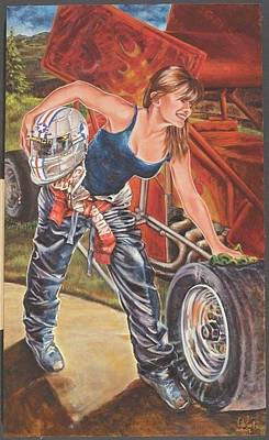 Danica Patrick Painting - American Women Of The New Millennium - Driven Determination 1 by Cathi Locati