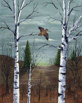 Woodcock Painting - American Woodcock by Judy Sherman