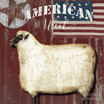 Sheep Painting - American Wool by Mindy Sommers