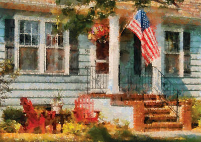 Americana - America The Beautiful Art Print by Mike Savad