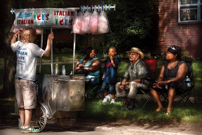 Americana - People - Buying Treats Print by Mike Savad