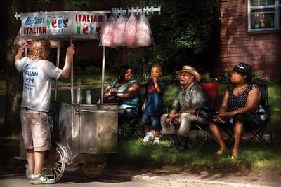 Americana - People - Buying Treats Art Print by Mike Savad