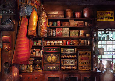 Photograph - Americana - Store - The Local Grocers  by Mike Savad