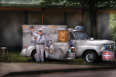 Americana -  We Sell Ice Cream Art Print by Mike Savad