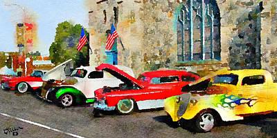 4th July Digital Art - Americana 1 by Karen Dickel