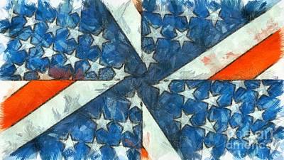 Digital Art - Americana Abstract by Edward Fielding