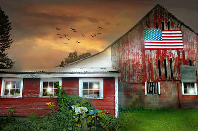 Photograph - Americana At Dusk by Diana Angstadt