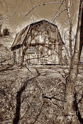 Wood Pallet Flag Photograph - Americana Barn S by John Myers
