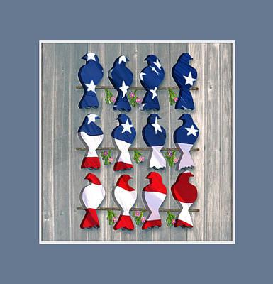 Digital Art - Americana Birds by Nina Bradica