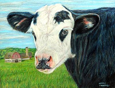 Americana Calf Art Print by Angela Finney