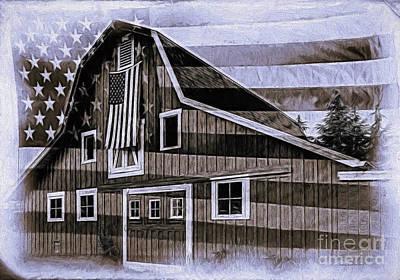 Photograph - Americana Glory by Jean OKeeffe Macro Abundance Art