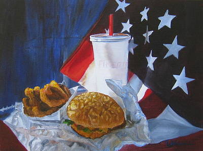Painting - Americana by LaVonne Hand
