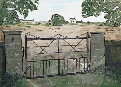 Americana No.7 Gate No.8 Art Print by Sheri Buchheit