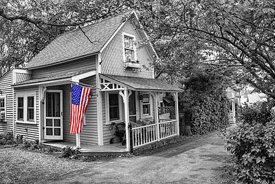 Photograph - Americana Series 08-bw by Carlos Diaz