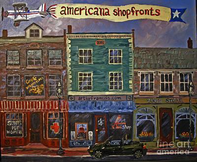 Painting - Americana Shopfronts by Francois Lamothe