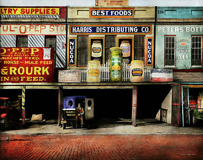 Americana - Signs - Feeding Time 1936 Art Print by Mike Savad