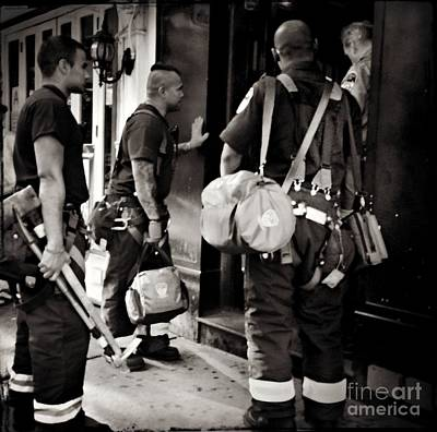 Photograph - Americas Bravest - N Y C  Firefighters On The Job by Miriam Danar