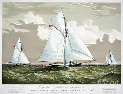 Americas Cup, 1881 Art Print by Granger