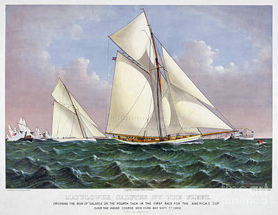 Photograph - Americas Cup, 1886 by Granger