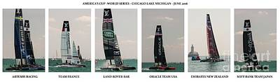 Photograph - America's Cup Boats 2016 by David Bearden