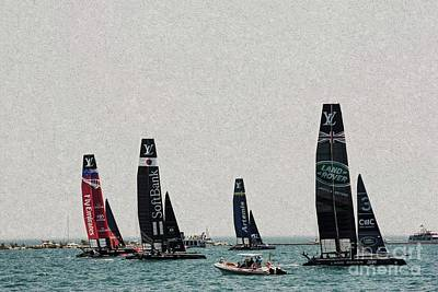 Photograph - America's Cup Boats by David Bearden
