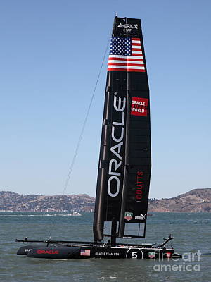 Sanfrancisco Photograph - America's Cup In San Francisco - Oracle Team Usa 5 - 5d18246 by Wingsdomain Art and Photography