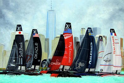 Painting - America's Cup New York City by Leonardo Ruggieri
