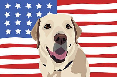 Digital Art - America's Dog by Kristin Bowen