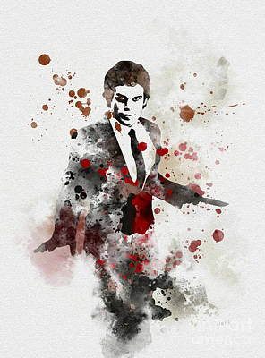 Miami Mixed Media - America's Favourite Serial Killer by Rebecca Jenkins