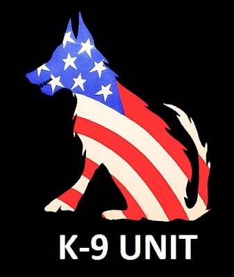 Mwd Painting - Americas K-9 by Barry Knauff