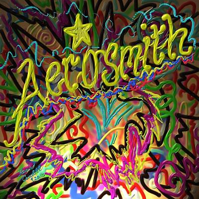 Aerosmith Painting - America's Rock Band by Kevin Caudill