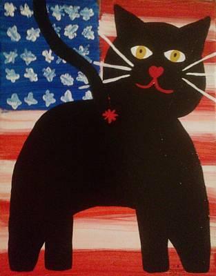 Americat Cat Butt Art Print