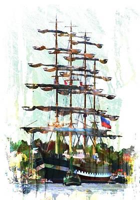 Sails Photograph - Americo Vespucci by Arie Van Garderen