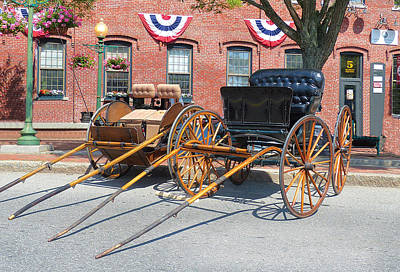 Photograph - Amesbury Carriages in Market Square by Christine Green