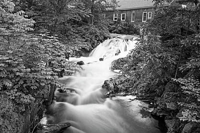 Photograph - Amesbury Ma Waterfall Powwow River Le Black And White by Toby McGuire