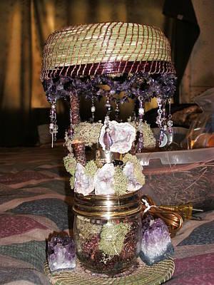 Amethyist Pine Needle Lamp Art Print by Russell  Barton