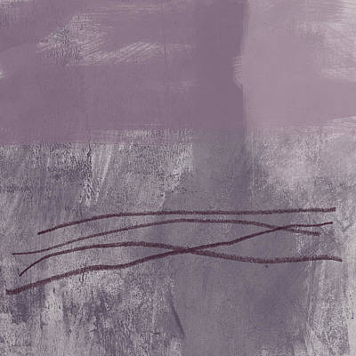 Amethyst 1- Abstract Art By Linda Woods Art Print by Linda Woods