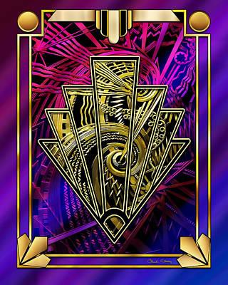 Digital Art - Amethyst And Gold by Chuck Staley