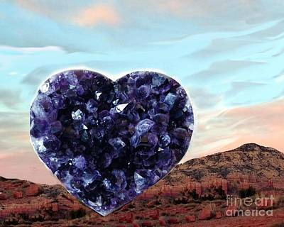 Photograph - Amethyst Vortex Heart Sedona by Marlene Rose Besso