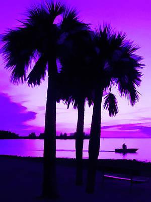 Amethyst Beach Sunset Art Print
